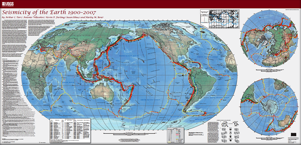 USGS Scientific Investigations Map 3064 Seismicity of the Earth