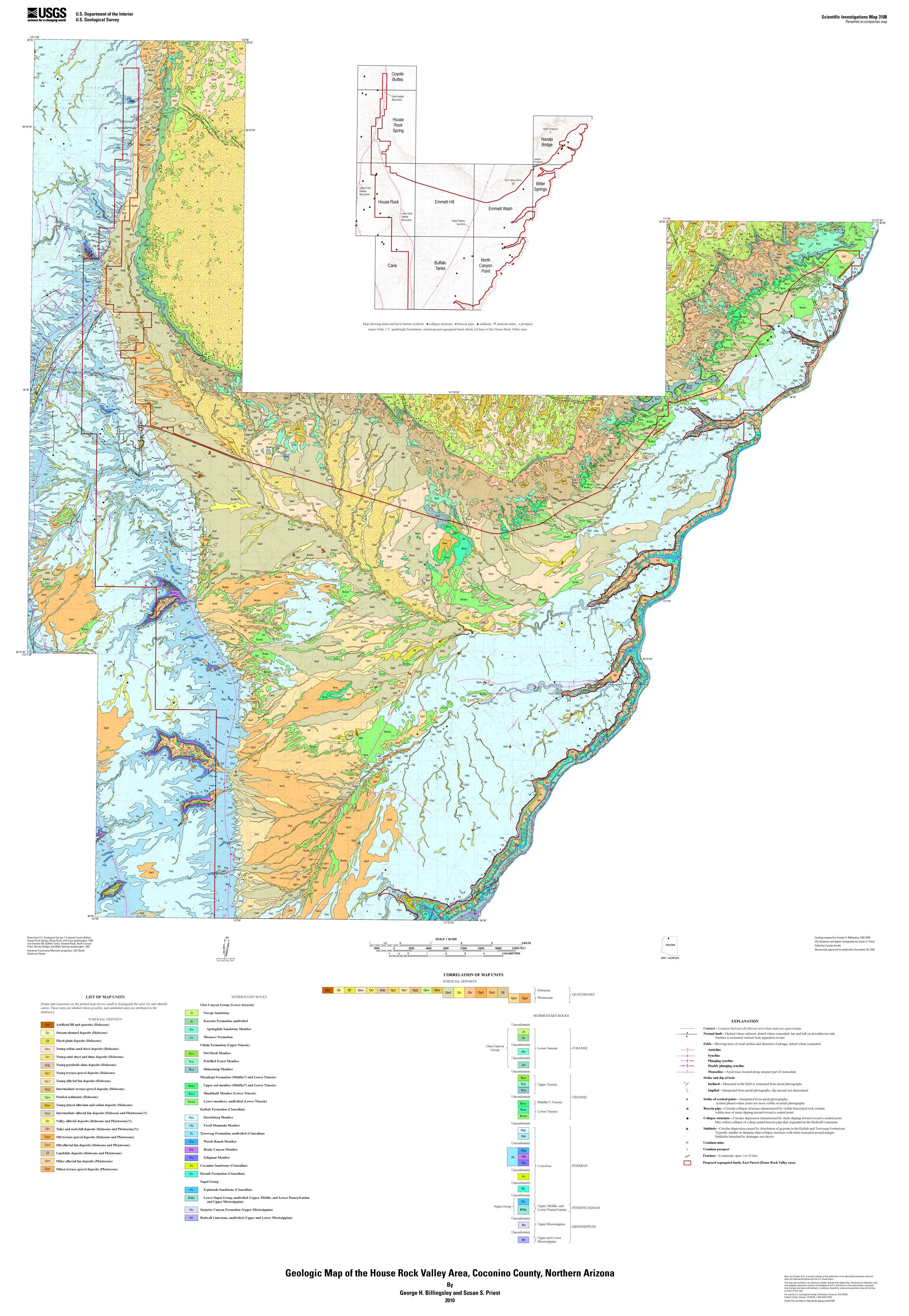 Geologic Map of the House Rock Valley Area Coconino County