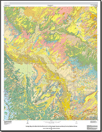 Geologic Map Of The Winslow 30 X 60 Quadrangle Coconino And