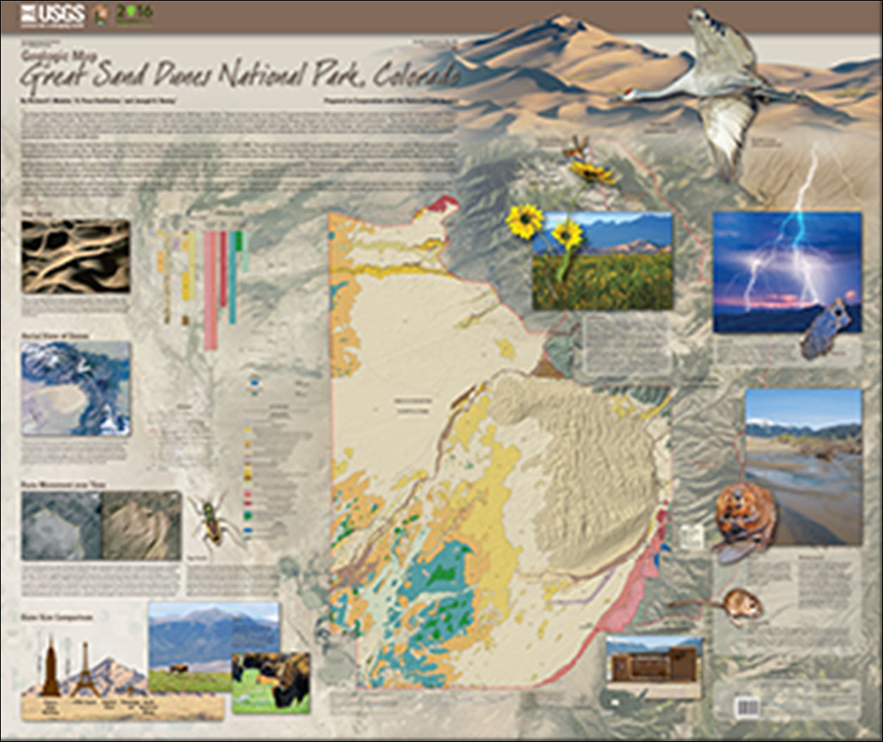 Geologic map of Great Sand Dunes National Park, Colorado on california national park map, sand flats campground calaveras county, canyons national park map, moon national park map, colorado map, volcanoes national park map, mexico national park map, sand creek colorado, namibia map, river national park map, grasslands national park map, v&t railroad map, black canyon of gunnison map, namib desert map, garden of the gods map,