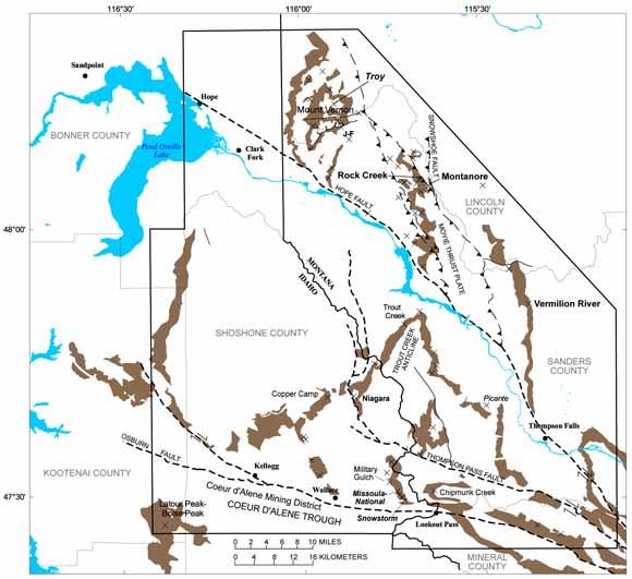 Stratabound coppersilver deposits of the Mesoproterozoic Revett