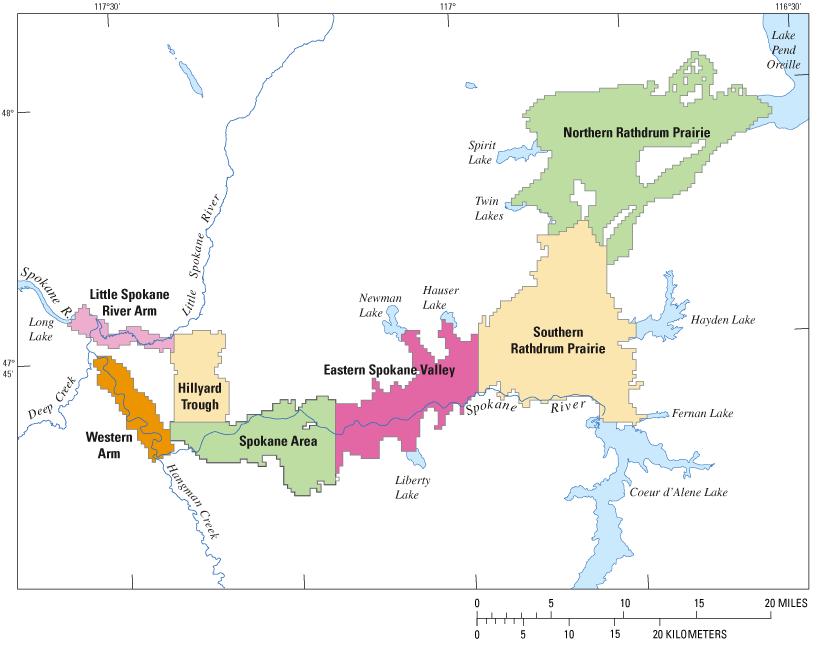 Ground Water Flow Model For The Spokane Valley Rathdrum Prairie