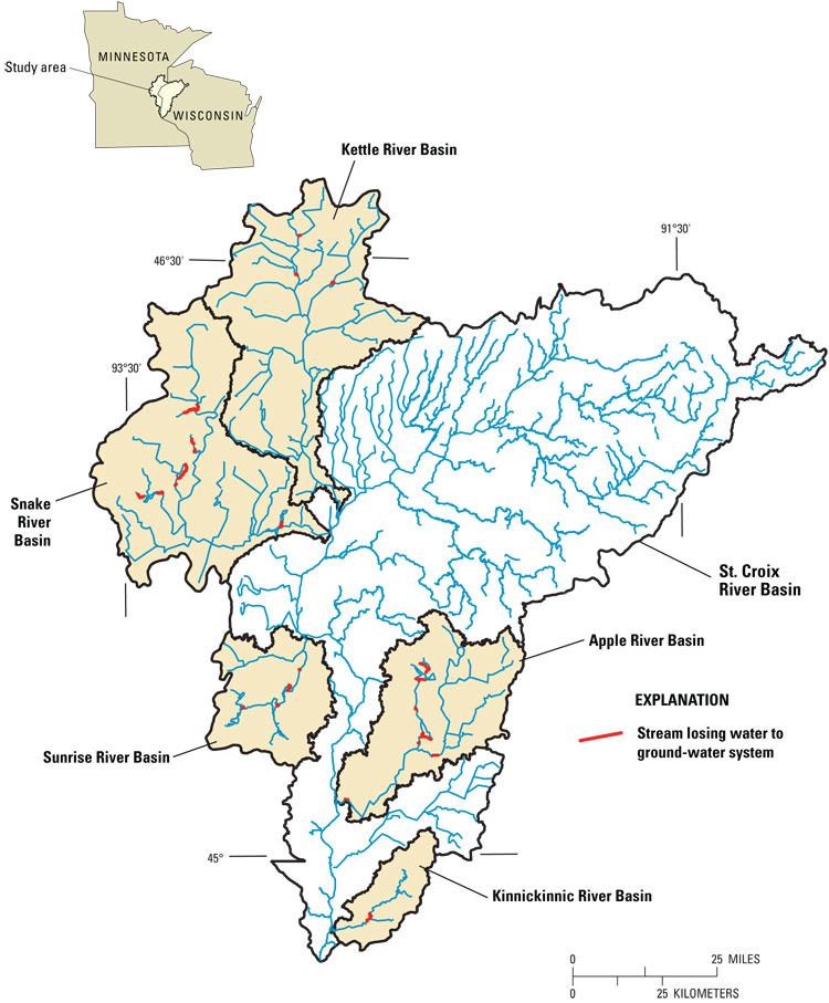 USGS Scientific Investigations Report Hydrogeologic - Minnesota rivers map