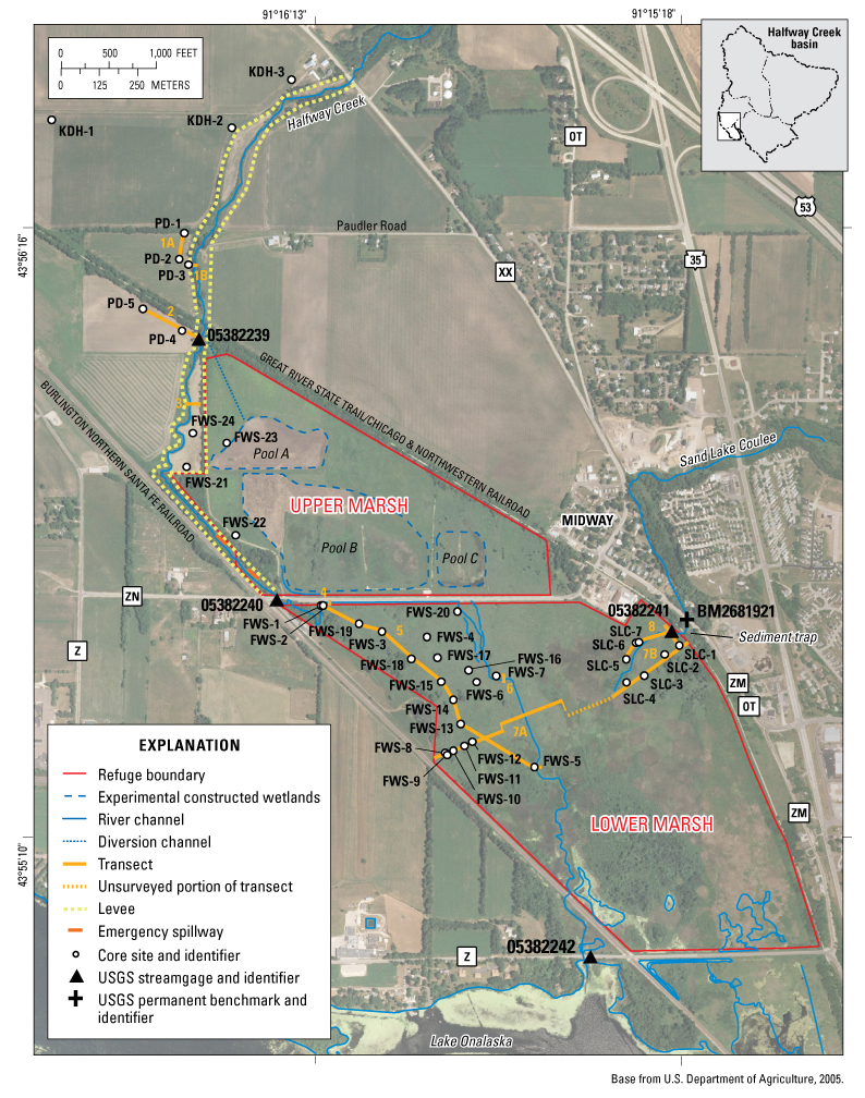 Core Site Locations And U S Geological Survey Usgs Streamgages Near The