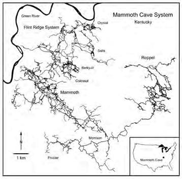 map of mammoth cave