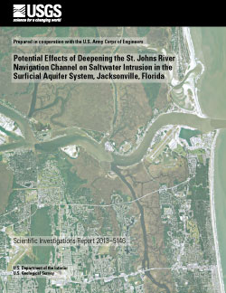 USGS Scientific Investigations Report  Potential Effects - Saltwater intrusion map us
