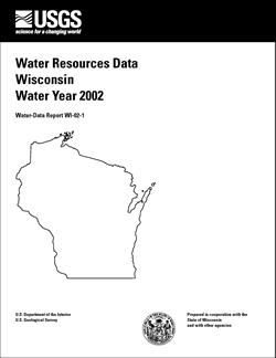 USGS Water Data Report: Water resources data - Wisconsin
