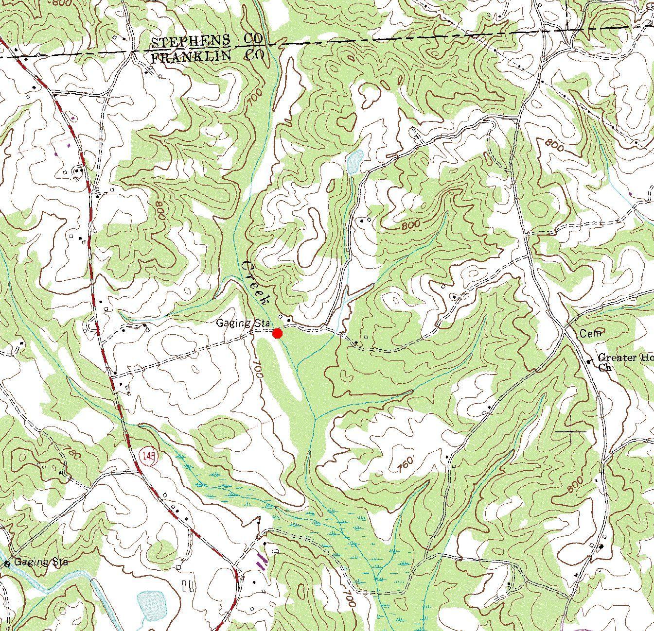 USGS WaterData Report GA SurfaceWater DataGeorgiaWater - Georgia map fort benning