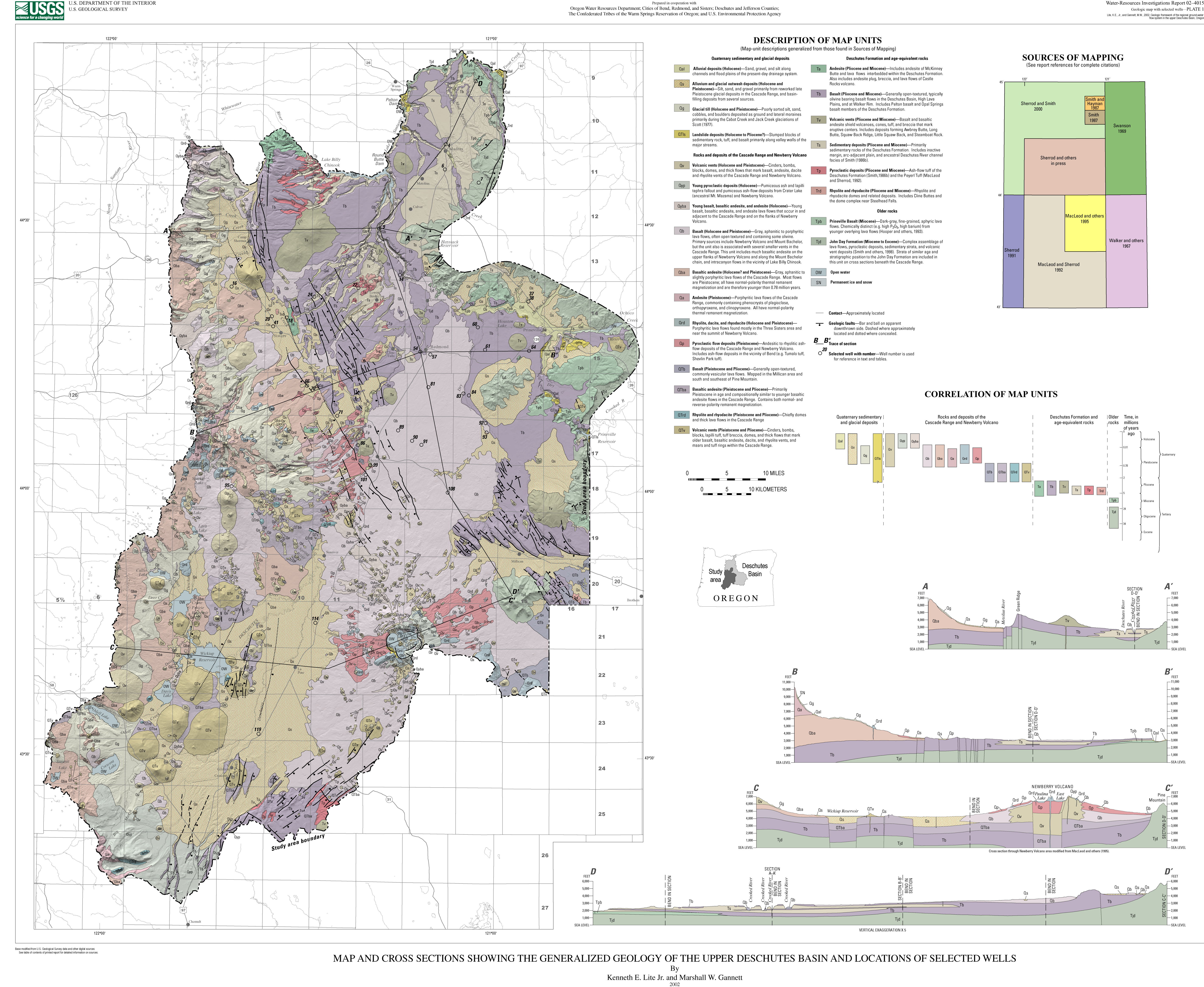 Geologic framework of the regional ground-water flow system in the