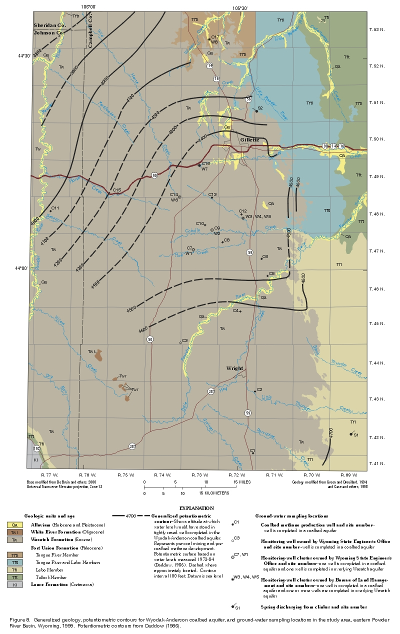 US Geological Survey Monitoring Of Powder River Basin Stream - Us water tds map